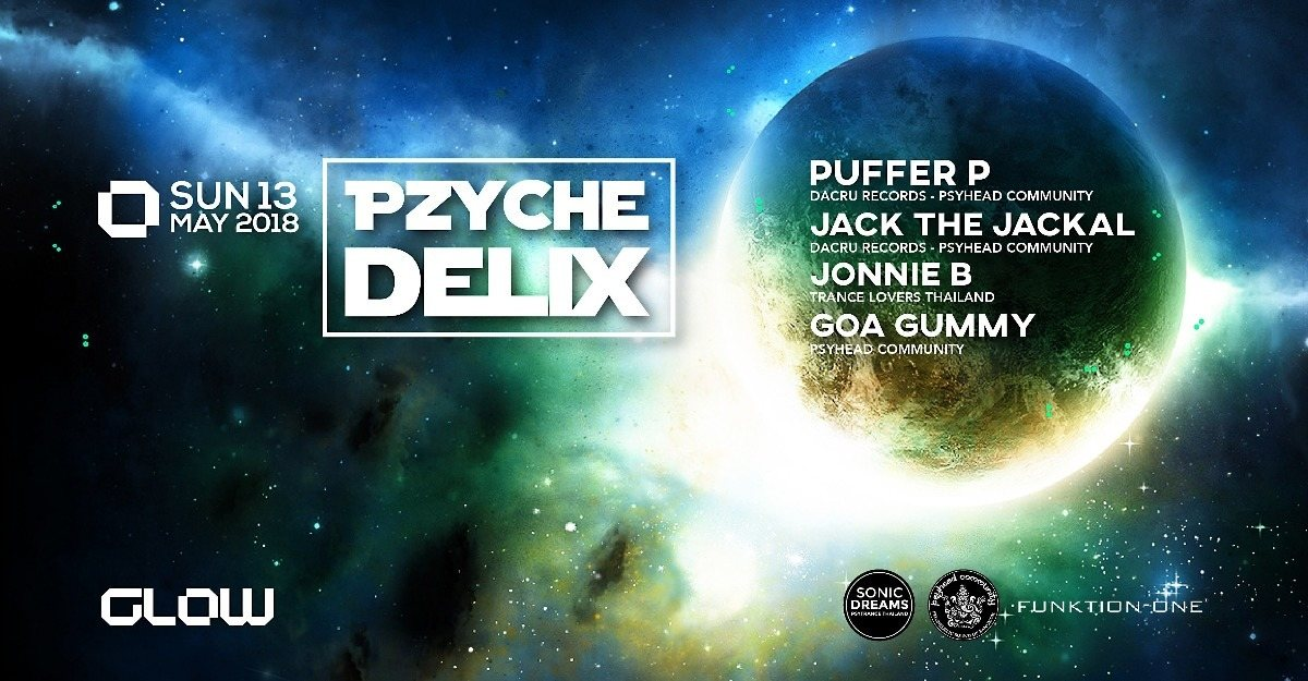Party Flyer Pzychedelix 13 May '18, 21:00
