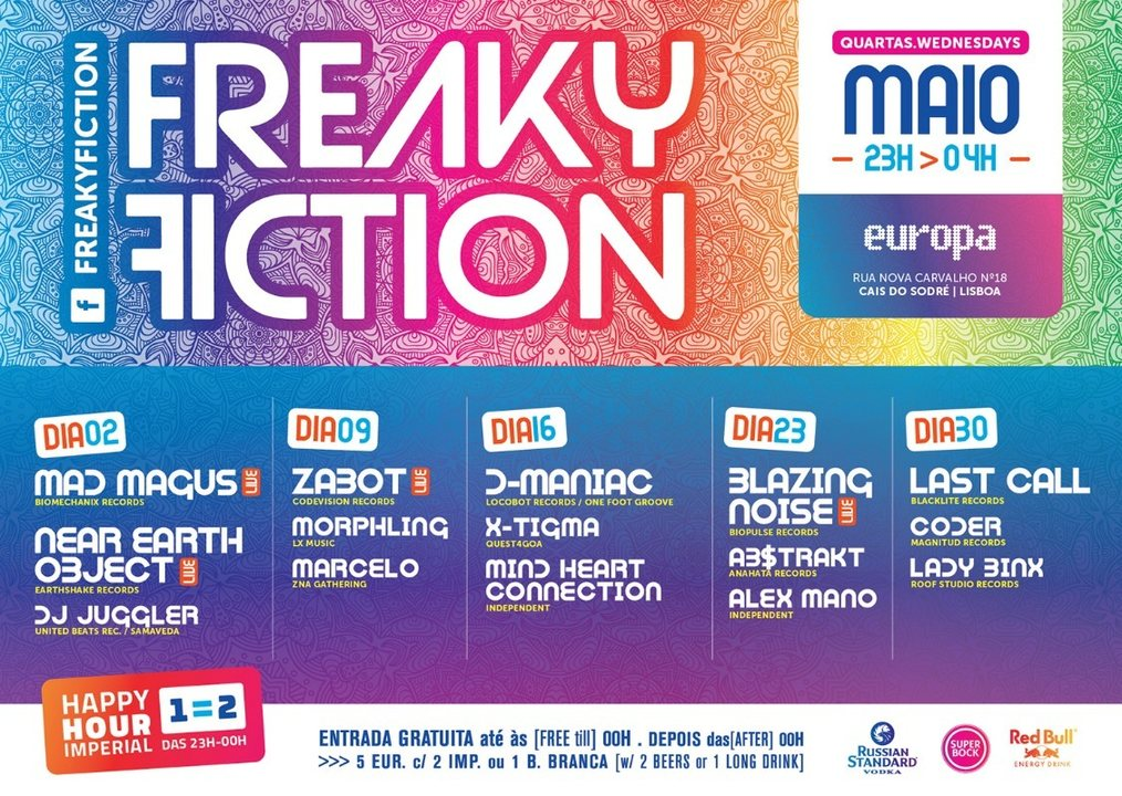 Party Flyer FREAKY FICTION 16 May '18, 23:00