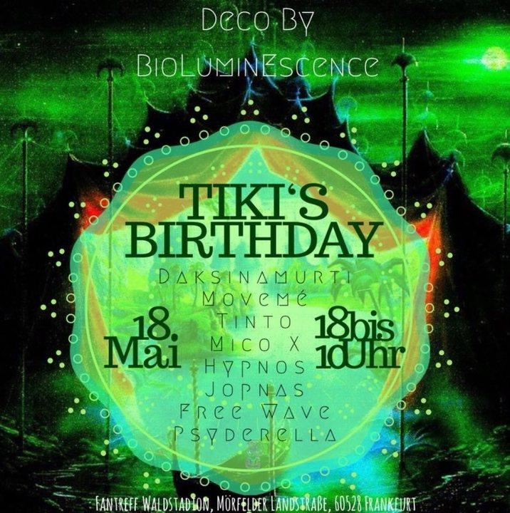 Party Flyer Tiki's Birthday 18 May '18, 19:00