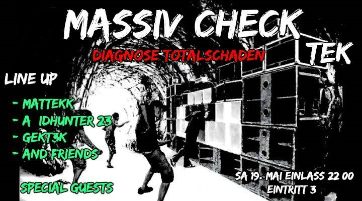 Party Flyer Massiv Check Dignose Totalschaden (Tek) (Psy) 19 May '18, 22:00