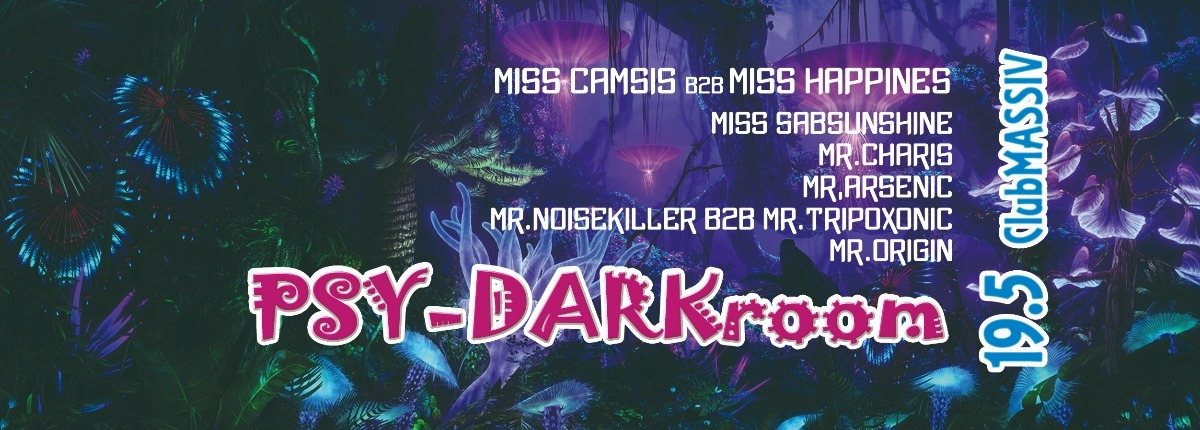 Party Flyer PSY-DARKroom vol.6 12hours nonstop party 19 May '18, 22:30