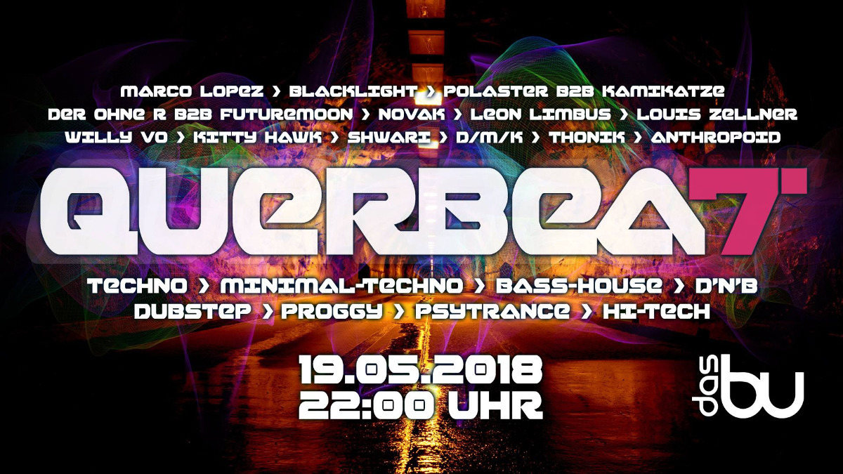Party Flyer QuerBeat! #7 - Psyfloor 19 May '18, 22:00