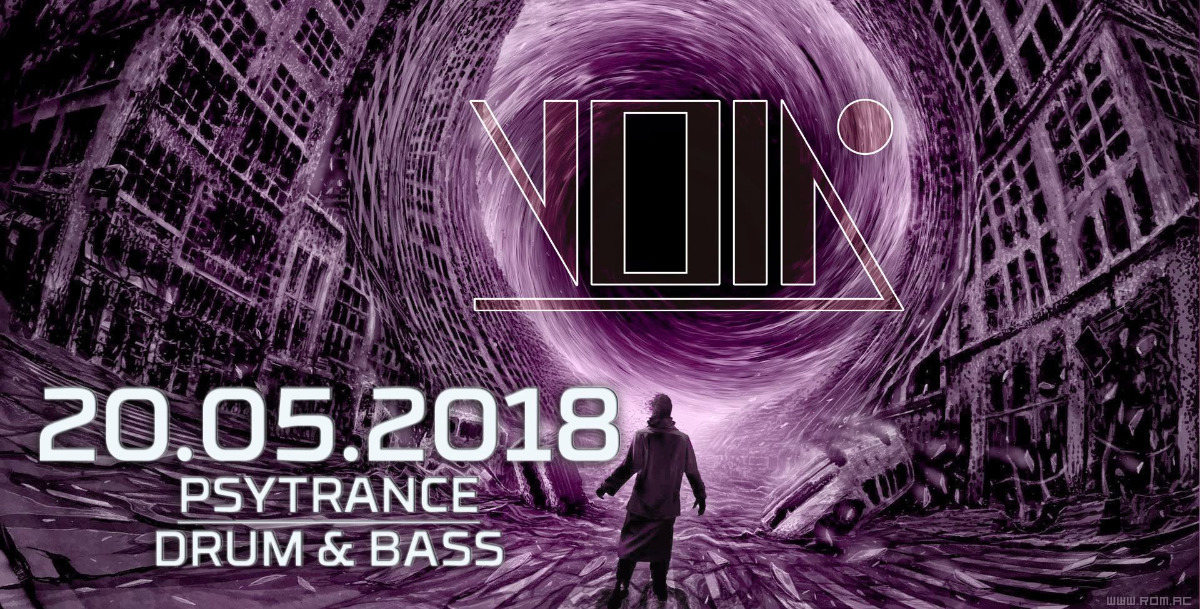 Party Flyer Enter the Void #20 (Psytrance / Drum & Bass) at Void Club Berlin 20 May '18, 23:00