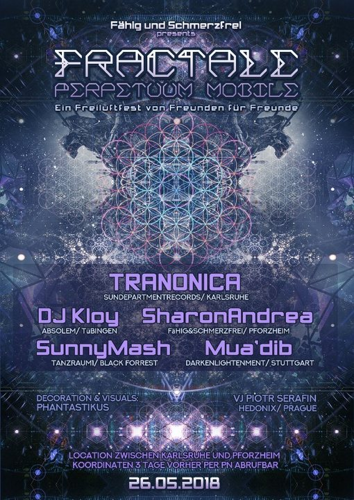 Party Flyer FRACTALE Perpetuum Mobile 26 May '18, 22:00