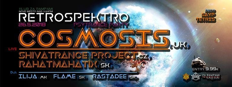 Party Flyer RetroSpektro - Cosmosis (UK) live guitar show! 26 May '18, 21:00