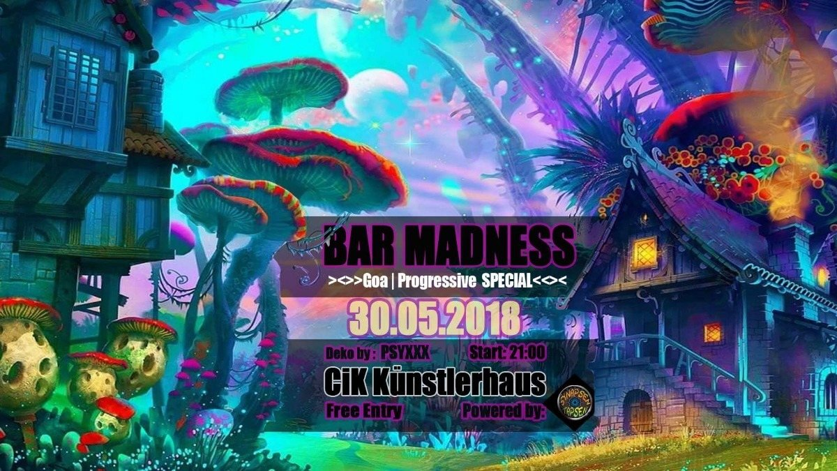 Party Flyer CiK Barmadness - Goa Special Edition 30 May '18, 21:00