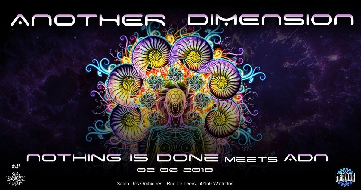 Party Flyer Another Dimension - Nothing Is Done Meets ADN 2 Jun '18, 21:00