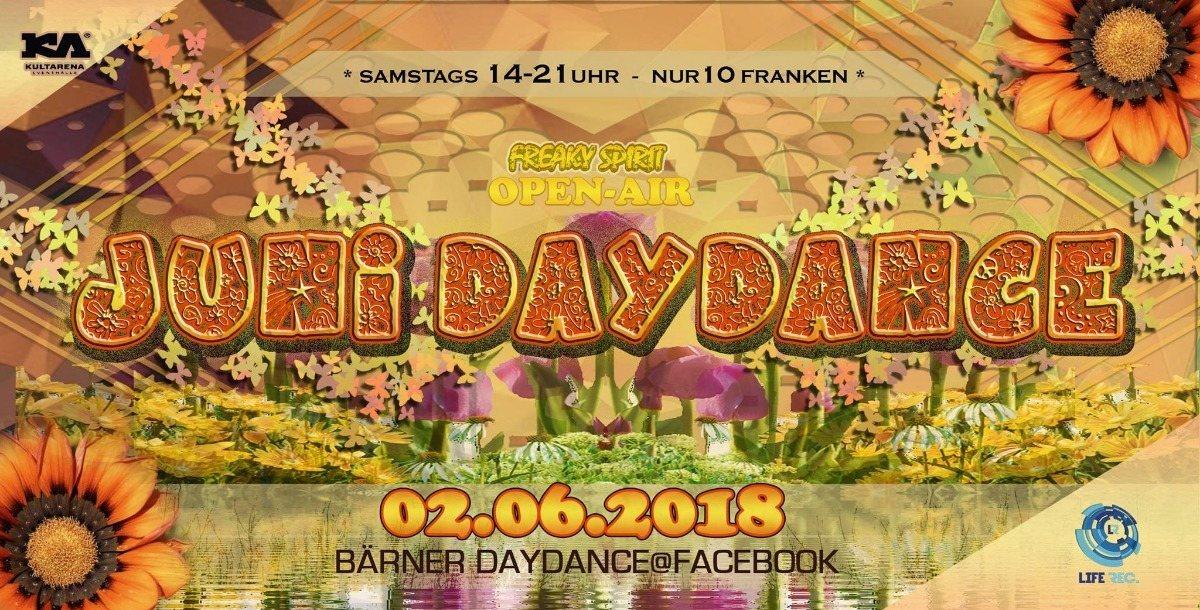 Party Flyer Bärner Juni DayDance (OpenAir-Kultarena) 2 Jun '18, 14:00