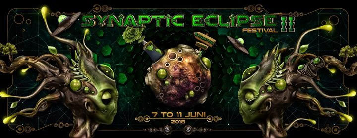 Party Flyer Synaptic Eclipse Festival 2018 7 Jun '18, 16:00