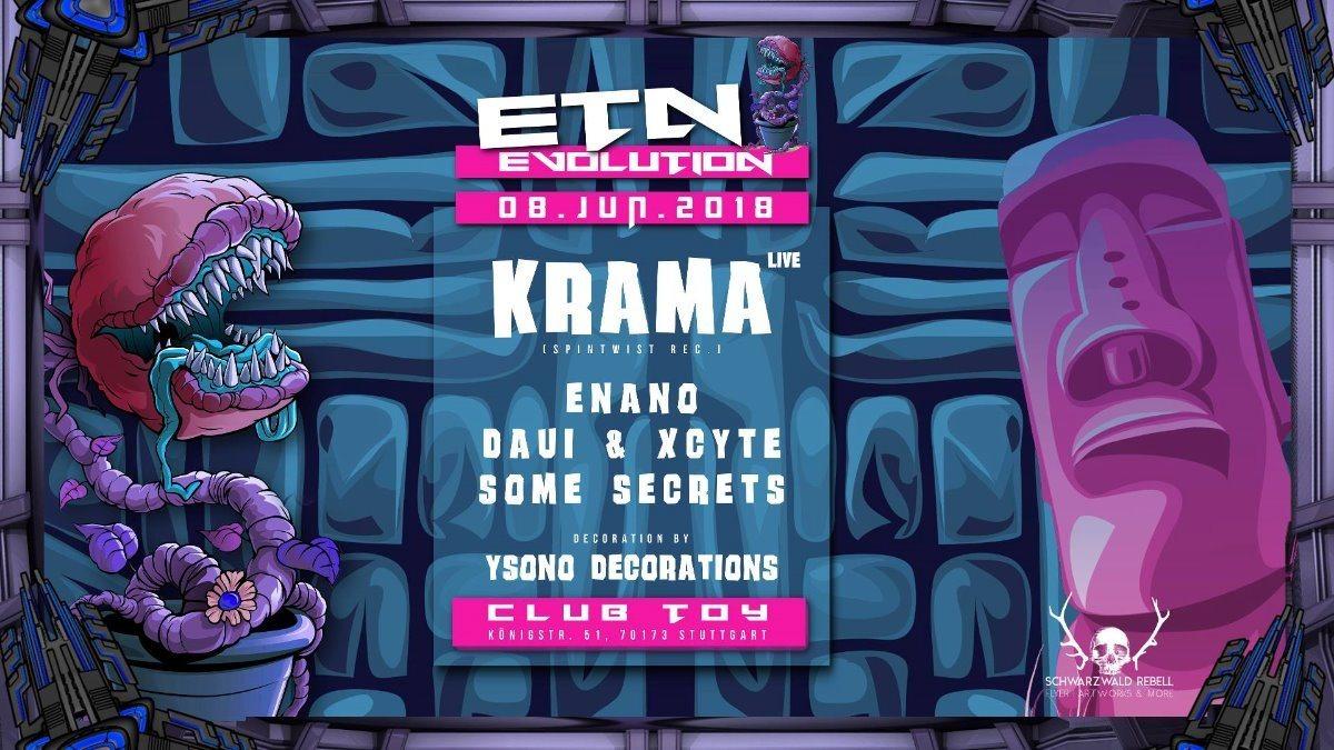 Party Flyer Evolution - Goa - w/ Krama (Spintwist Rec.) Live + Enano Uvm. 8 Jun '18, 23:00