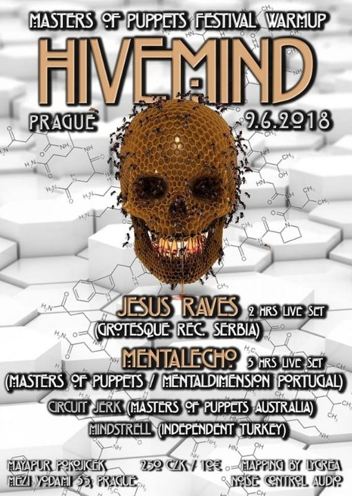 Party Flyer HIVEMIND feat. Jesus Raves, Mentalecho 9 Jun '18, 22:00