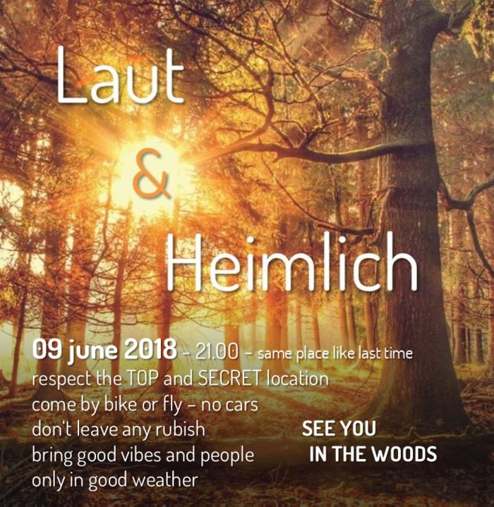 Party Flyer Laut & Heimlich ! 9 Jun '18, 21:00