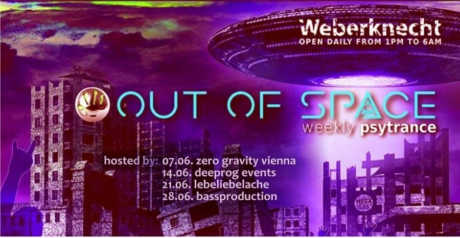 Party Flyer OUT of SPACE Deeprog Special 14 Jun '18, 22:00