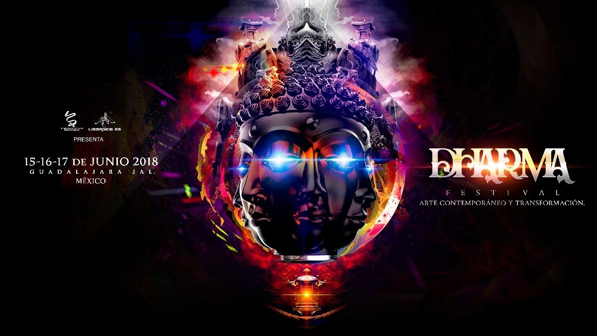 Party Flyer Dharma Trance Festival 2018: 15, 16 y 17 de junio. 15 Jun '18, 11:00