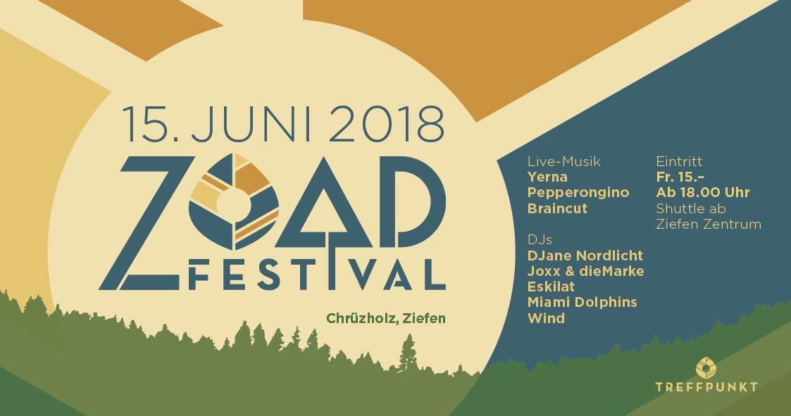 Party Flyer ZOAD Festival 2018 15 Jun '18, 18:00