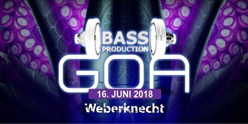 Party Flyer Bassproduction Goa Party 16 Jun '18, 22:00