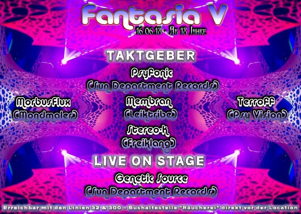 Party Flyer Fantasia 5 16 Jun '18, 23:00