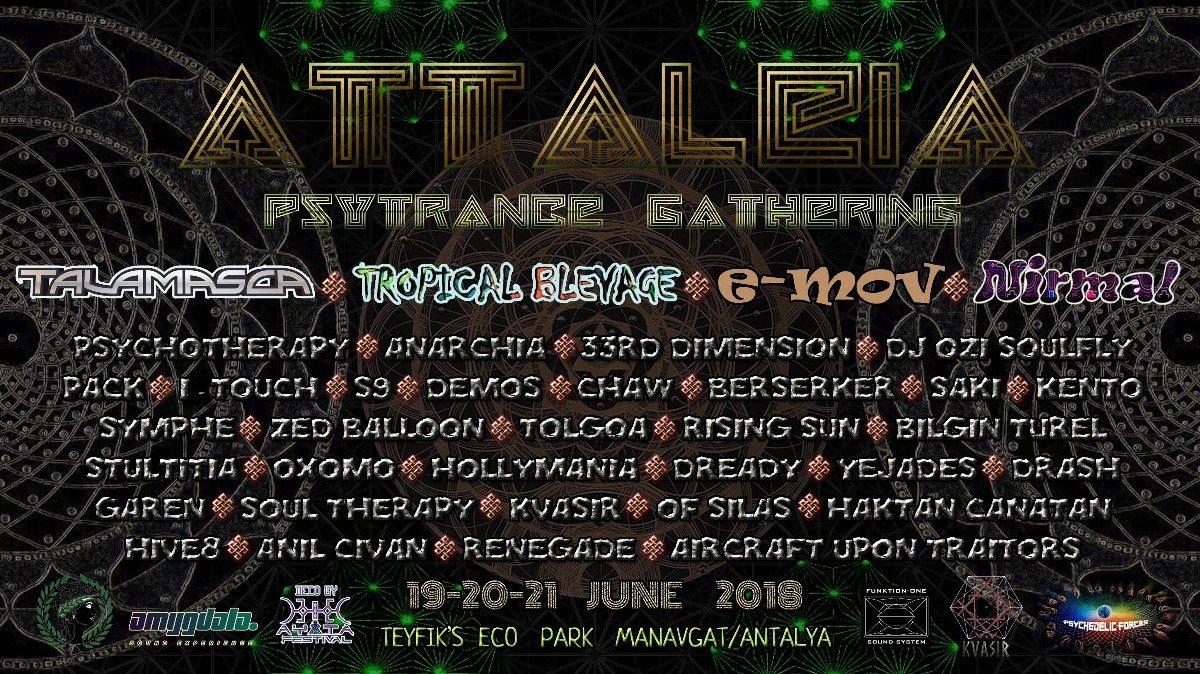Party Flyer Attaliea Psytrance Gathering 2018 19 Jun '18, 15:00