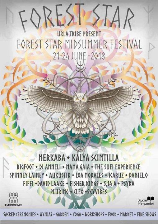 Party Flyer Forest Star - Midsummer Festival 2018 21 Jun '18, 15:00