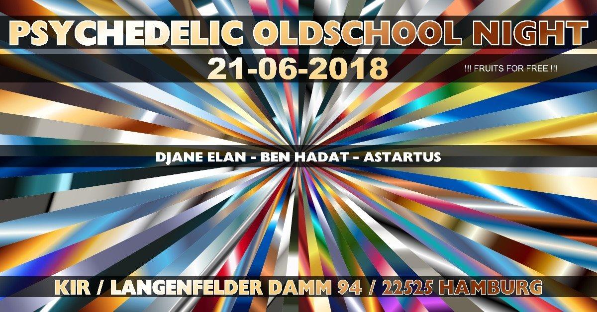 Party Flyer ॐ Psychedelic Oldschool Night ॐ 21 Jun '18, 21:00
