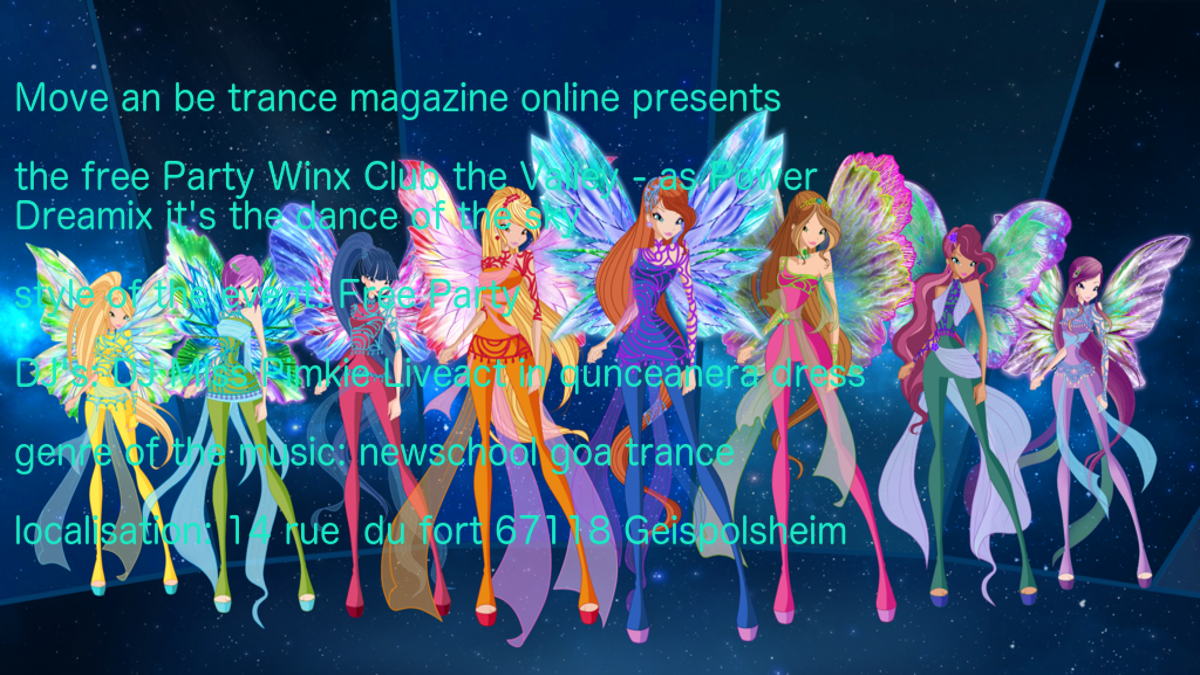 Party Flyer Winx Club The Valley - the Dreamix Power trance 21 Jun '18, 19:30
