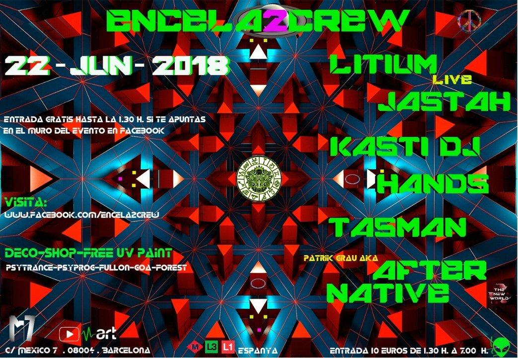 Party Flyer ENCELA2CREW PRESENTS: LITIUM Live 22 Jun '18, 23:30