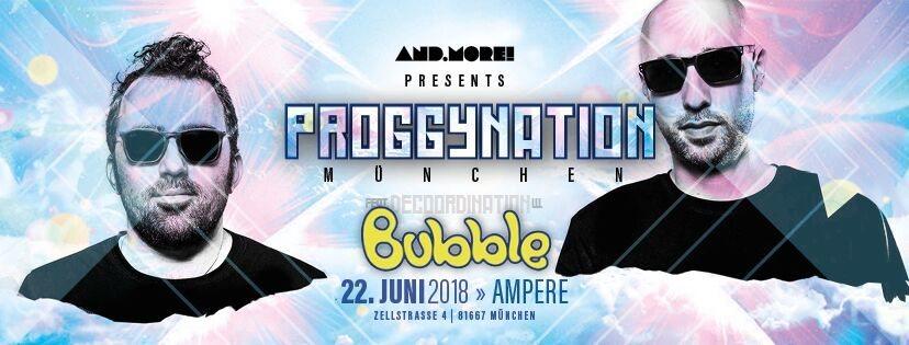 Party Flyer Proggynation & Decoordination München pres. Bubble [Mushy Rec. Israel] 22 Jun '18, 23:00