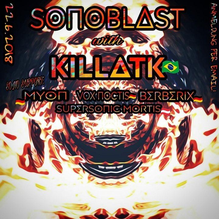 Party Flyer SonoBlast w/ 3h KiLLΔTK 22 Jun '18, 22:00