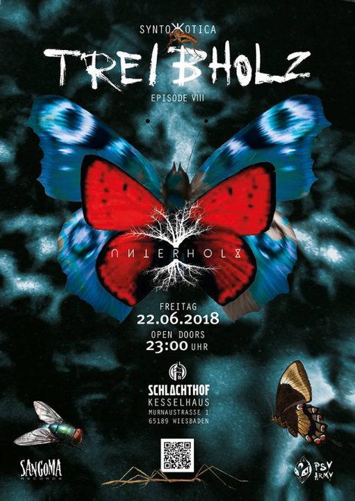"Party Flyer Treibholz VIII - ""Syntoжotica"" - Kabayun LIVE 22 Jun '18, 23:00"