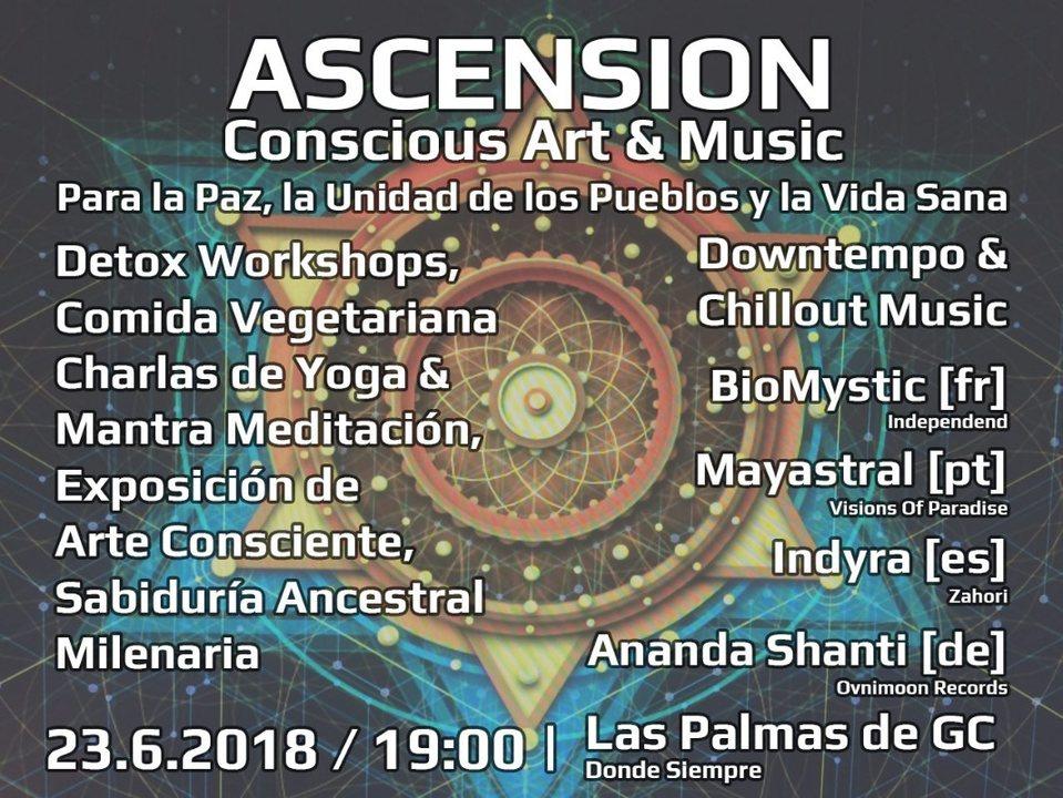 Party Flyer Ascension - Conscious Art & Music @ Gran Canaria 23 Jun '18, 19:00