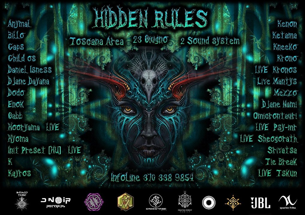 Party Flyer Hidden Rules 23 Jun '18, 22:00