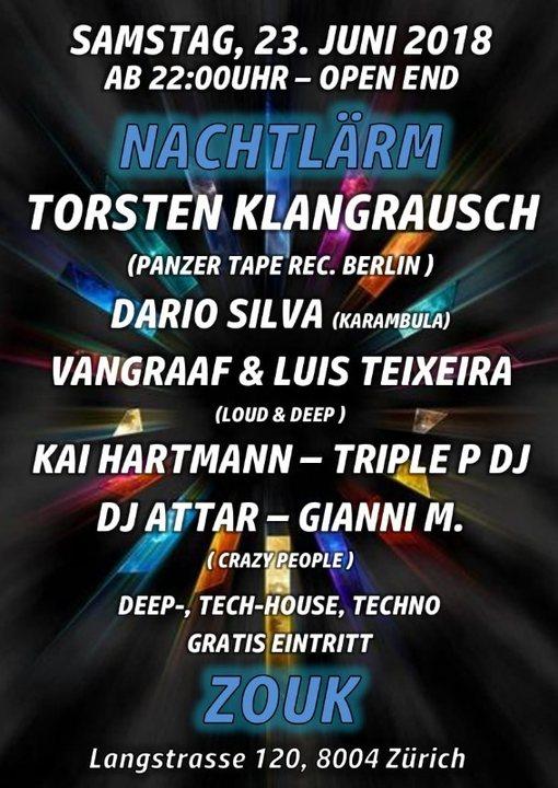 Party Flyer NACHTLÄRM 23 Jun '18, 22:00