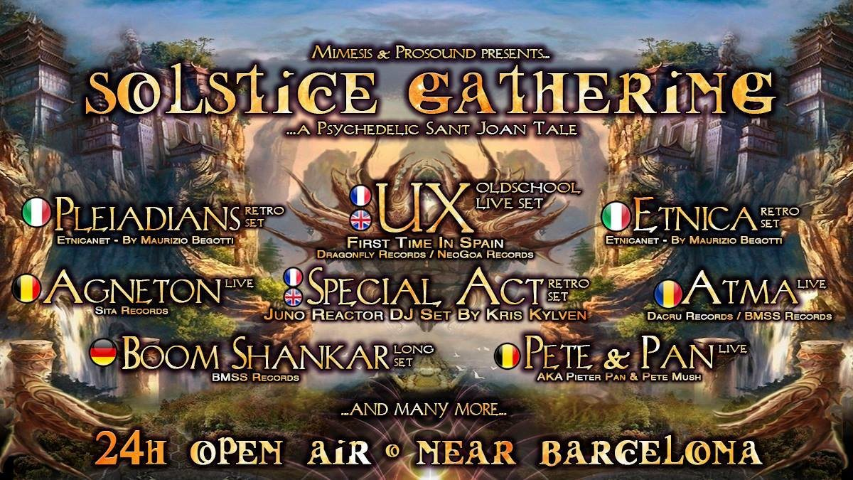 Party Flyer Solstice Gathering 2018 - A Psychedelic Sant Joan Tale 23 Jun '18, 17:00