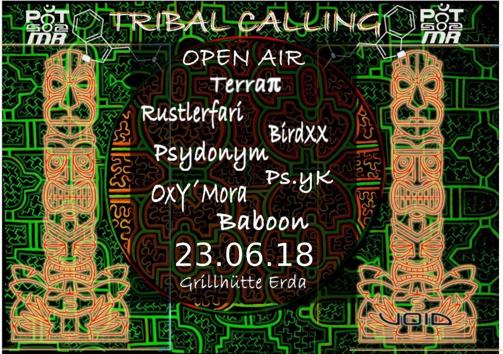 Party Flyer Tribal Calling (Open Air) 23 Jun '18, 19:00