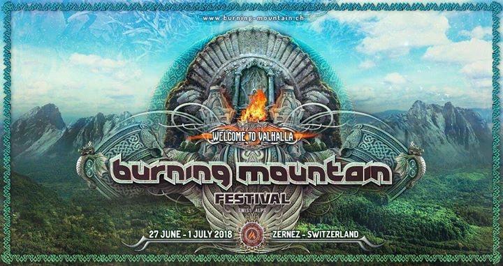 Party Flyer Burning Mountain Festival 2018 27 Jun '18, 13:00