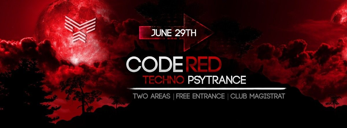 Party Flyer Code Red | Psytrance and Techno 6 Jul '18, 23:00
