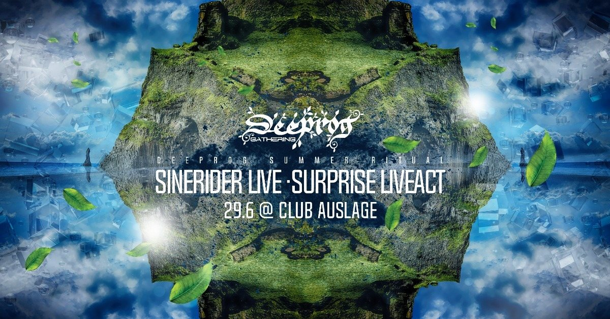 Party Flyer Deeprog Summer Ritual with Sinerider Live 29 Jun '18, 23:00