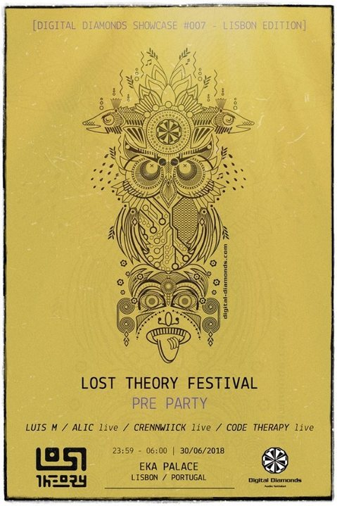 Party Flyer Lost Theory Festival - PreParty [Digital Diamonds Showcase #007] 30 Jun '18, 23:30