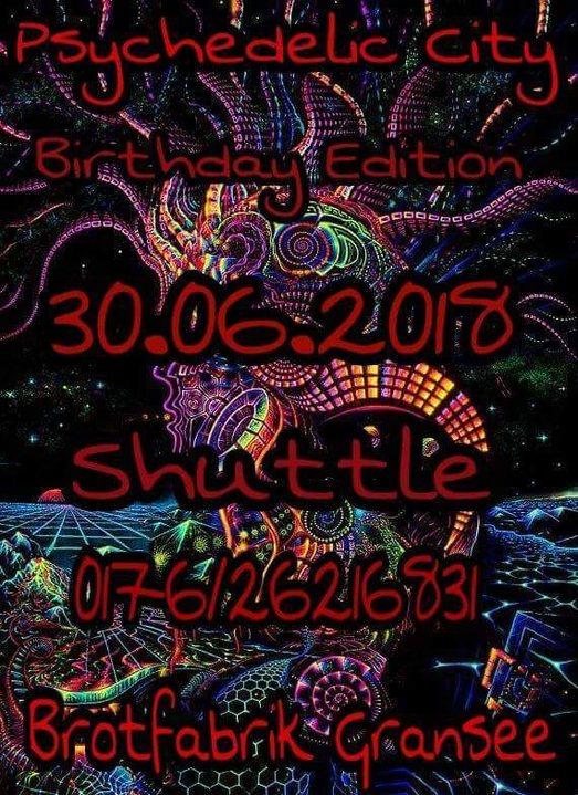 Party Flyer Psychedelic City 30 Jun '18, 22:00