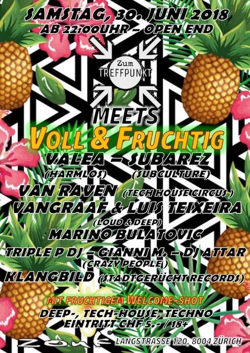Party Flyer Zum Treffpunkt im Zouk meets VOLL & FRUCHTIG 30 Jun '18, 22:00