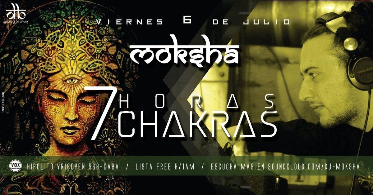 Party Flyer Dancing Budhas features Dj Moksha 7 Chakras 7hs 6 Jul '18, 23:30