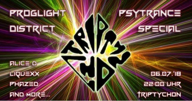 Party Flyer Proglight District 6 Jul '18, 22:00