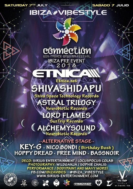 Party Flyer IBIZA VIBESTYLE CONNECTION FESTIVAL PRE EVENT 7 Jul '18, 22:00