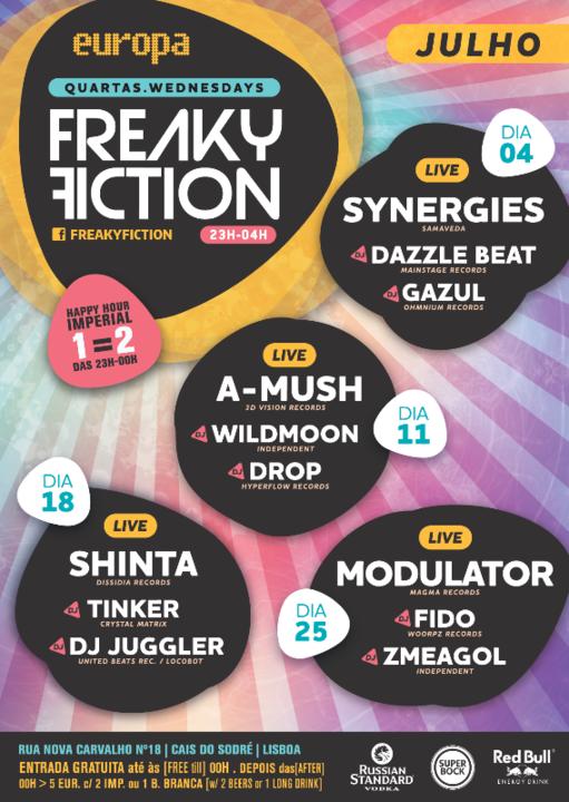 Party Flyer FREAKY FICTION 11 Jul '18, 23:00