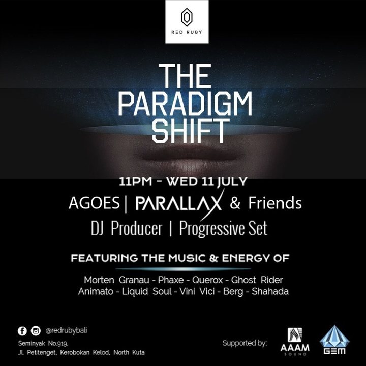 Party Flyer The Paradigm Shift 11 Jul '18, 23:00