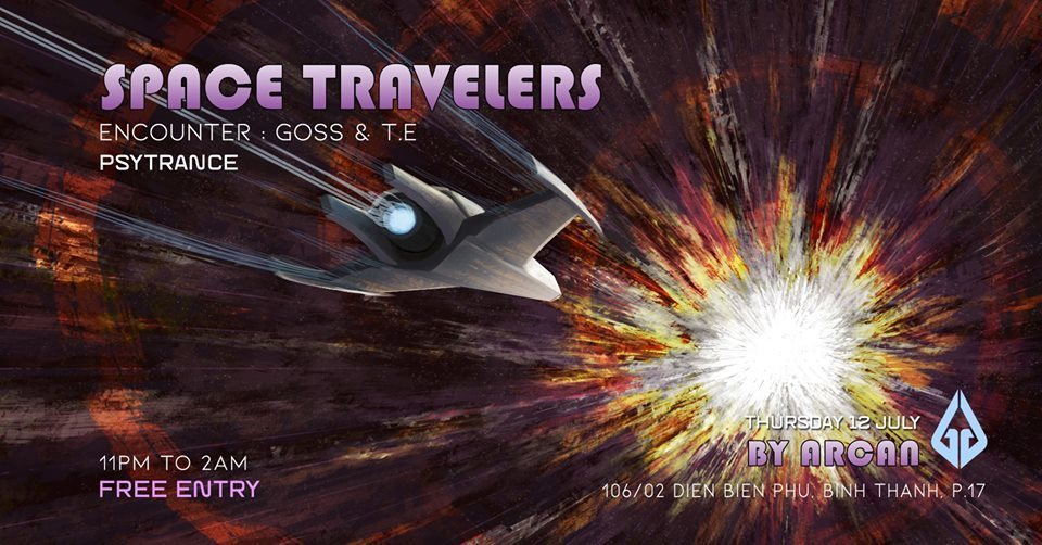 Party Flyer Space Travelers #4 Trap In The Void 12 Jul '18, 23:00