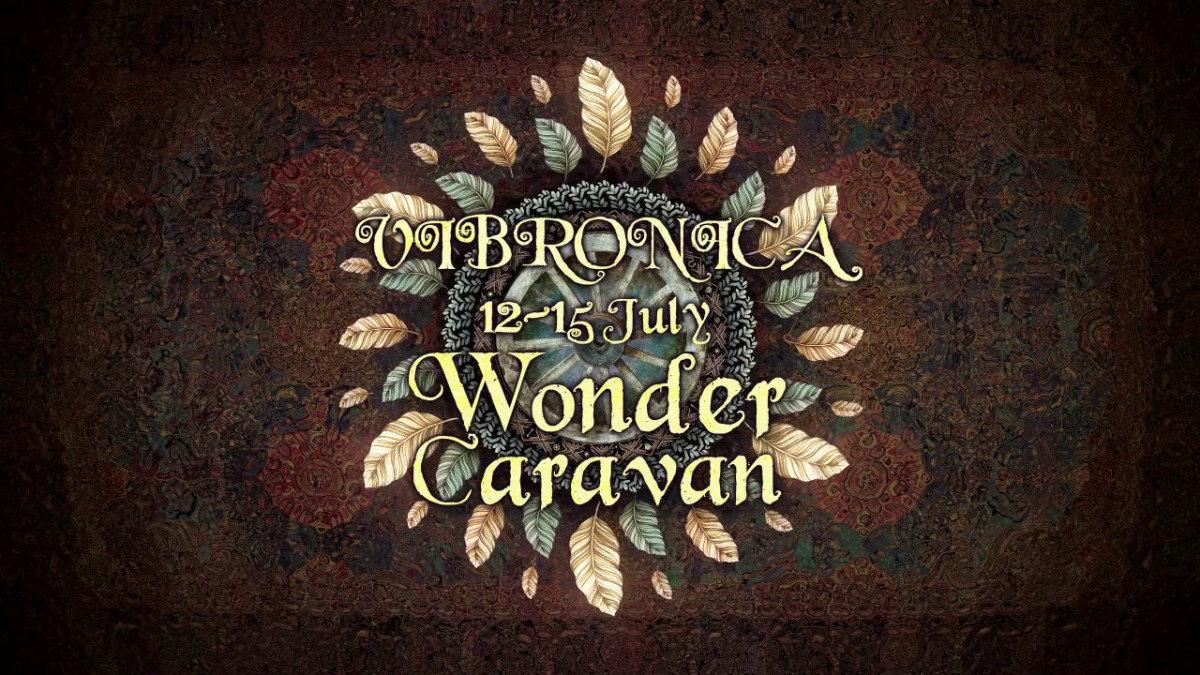 Party Flyer Vibronica Festival 2018. Wonder Caravan. 12 Jul '18, 18:00