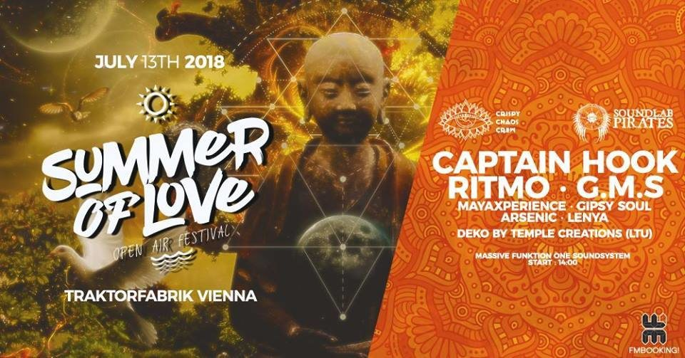Party Flyer Summer of Love 2018 - Open Air Festival Vienna: Day 1 13 Jul '18, 14:00