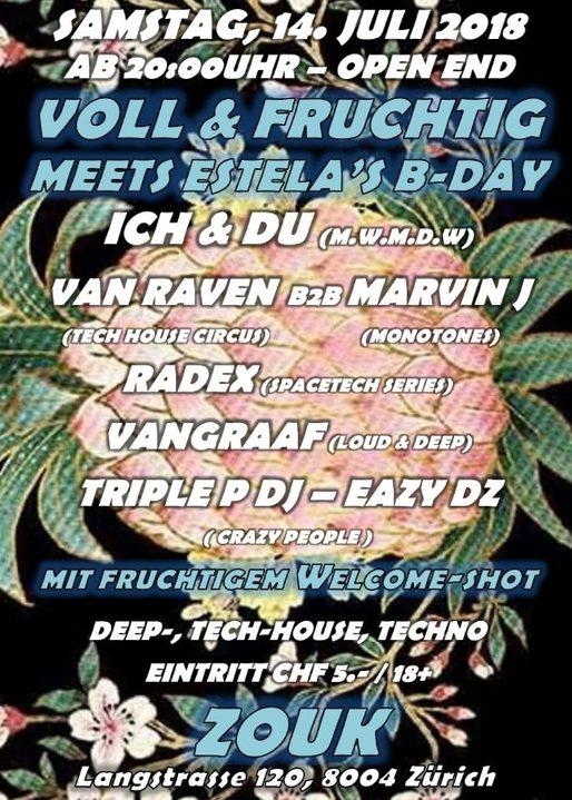 Party Flyer VOLL & FRUCHTIG 14 Jul '18, 22:00