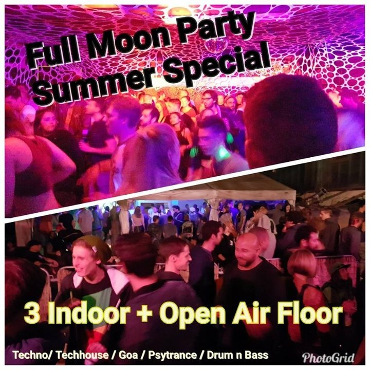 Party Flyer Full Moon Party Mondfinsternis Special 27 Jul '18, 21:00